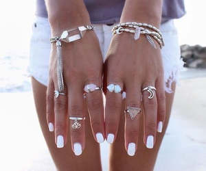 white, fashion, and nails image