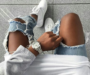 denim, outfit, and silver image
