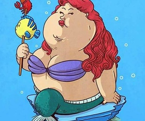 ariel, fat, and funny image