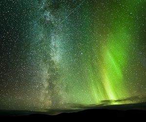 stars, sky, and green image
