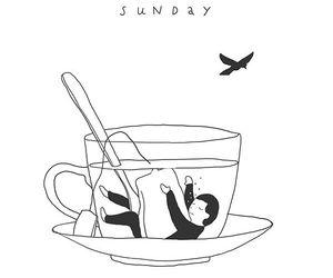 art, Sunday, and tea image