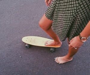 dress, girl, and skate image