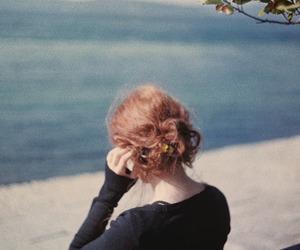beautiful, girl, and ocean image