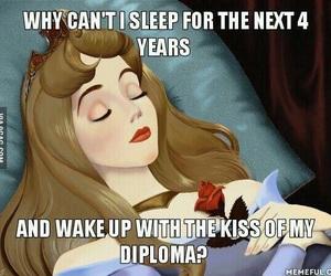 diploma, sleep, and funny image