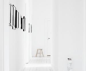 white and hallway image