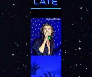 blue, neon, and Harry Styles image