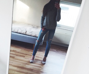 autumn, clothes, and high heels image