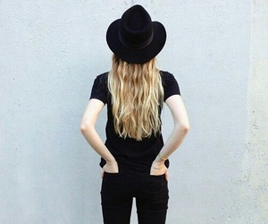 black, style, and blonde image