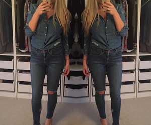 blogger, denim, and fashion image
