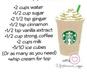 coffee, ginger, and frappuccino image
