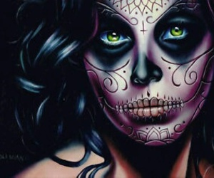 day of the dead, dia de los muertos, and tattoo image