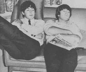 Paul McCartney, vintage, and mclennon image