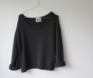 fashion, black, and sweater image