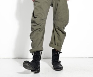 casual, casual dress, and baggy trousers image