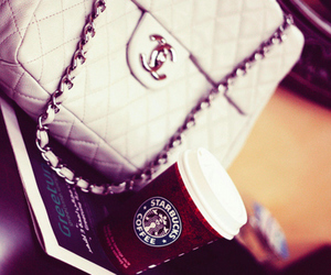 starbucks, chanel, and bag image