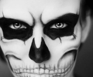 makeup and skull image
