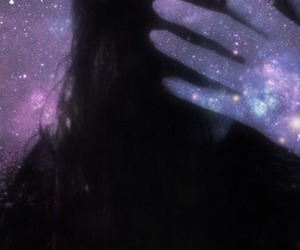 girl, space, and close eyes image