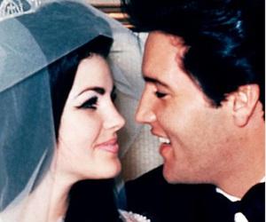 Elvis Presley, priscilla presley, and wedding image