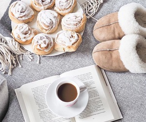 coffee, book, and winter image