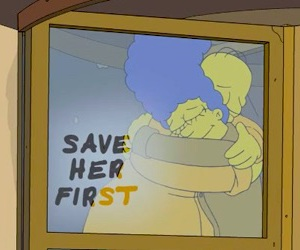 the simpsons and love image