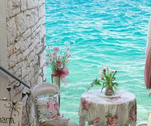 sea, amazing, and flowers image