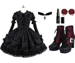 goth, goth lolita, and lolita image