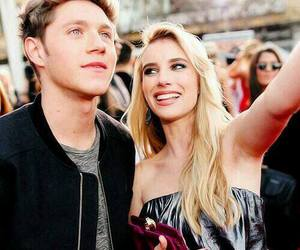 niall horan, emma roberts, and one direction image