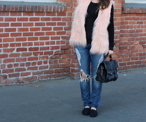 black, blogger, and faux fur image