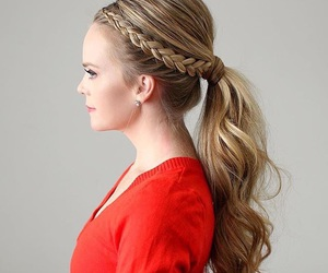 beauty, braid, and girly image