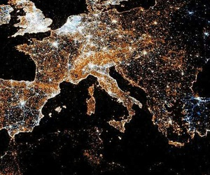 europe, light, and space image