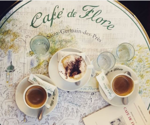 cafe de flore, coffee, and france image