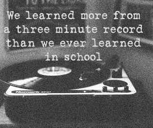 music, school, and quote image