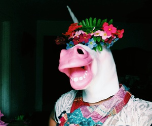 crown, flowers, and horse image