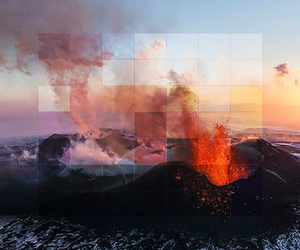 volcano, nature, and sky image