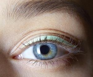 eye, blue, and make up image