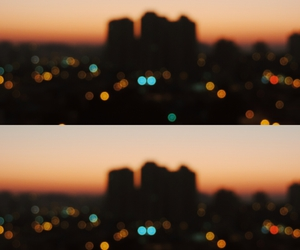 cities, city lights, and dusk image
