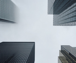 architecture, cities, and fog image