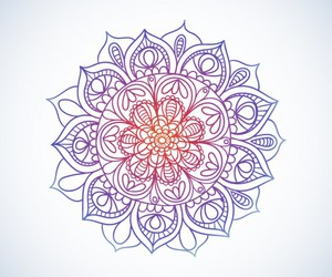 mandala and watercolor image
