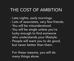 ambition, people, and cost image