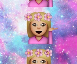 flowers, wallpaper, and emoji image