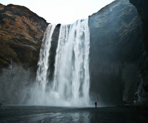 nature, waterfall, and love image