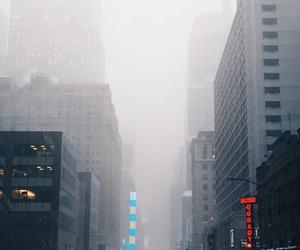 city, fog, and snow image