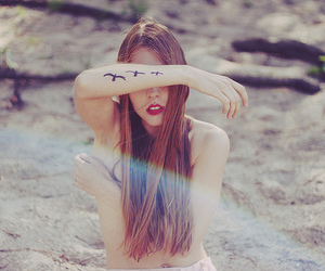arm, girl, and hipster image