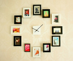 clock, diy, and picture image