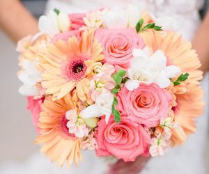 flowers, bouquet, and drees image