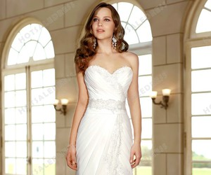 wedding dress, wedding, and bridal gown image