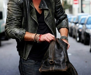 style, guy, and leather image