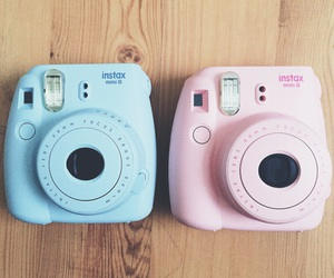 polaroid, blue, and tumblr image
