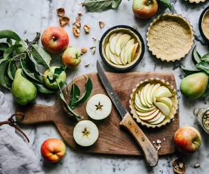 apples, baking, and food image