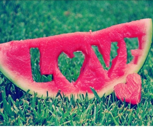 love and watermelon image